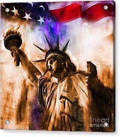 Statue Of Liberty 002 Acrylic Print by Gull G