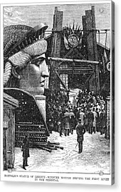 Statue Of Liberty, 1881 Acrylic Print by Granger