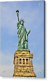 Statue Of Liberty Front View Acrylic Print by Randy Aveille