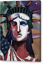 Statue Of Liberty Hb5t Acrylic Print by Gull G