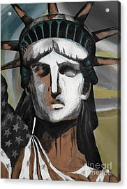statue of liberty KJ78 Acrylic Print by Gull G