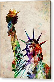 Statue Of Liberty Acrylic Print by Michael Tompsett