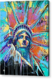 Statue Of Liberty New York Art Usa Acrylic Print