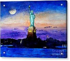 Statue Of Liberty New York Acrylic Print