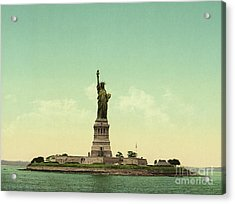 Statue Of Liberty, New York Harbor Acrylic Print by Unknown