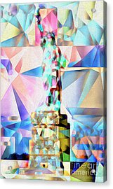 Acrylic Print featuring the photograph Statue Of Liberty New York In Abstract Cubism 20170327 by Wingsdomain Art and Photography