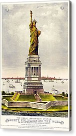 Statue Of Liberty Acrylic Print by Pg Reproductions