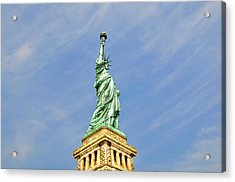 Statue Of Liberty Acrylic Print by Randy Aveille