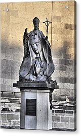 Statue Of Pope John Paul Acrylic Print by Jim Walls PhotoArtist