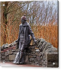 Statue Of Tom Weir Acrylic Print by Jeremy Lavender Photography