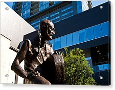 Statue Of Willie Nelson - Side View Acrylic Print by Mark Weaver