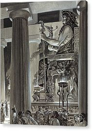 Statue Of Zeus At Olympia Acrylic Print by Peter Jackson