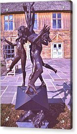 Statue   Summer And Winter Nymphs Acrylic Print