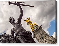 Statues In Front Of Buckingham Palace Acrylic Print