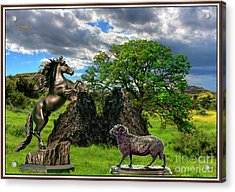 Statues In The Park Acrylic Print by Pemaro