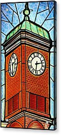 Staunton Clock Tower Landmark Acrylic Print by Jim Harris