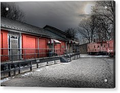 Staunton Va Train Depot Acrylic Print by Todd Hostetter