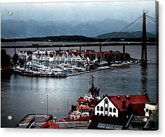 Acrylic Print featuring the photograph Stavanger Harbor by Jim Hill