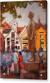 Stavanger Statue Acrylic Print by Joan  Jones