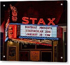Staxtacular Night Acrylic Print by Stephen Stookey