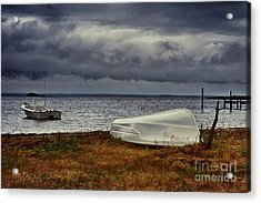 Staying Ashore Acrylic Print by Mark Miller