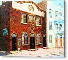 St.dominique Street Synagogue Acrylic Print by Carole Spandau