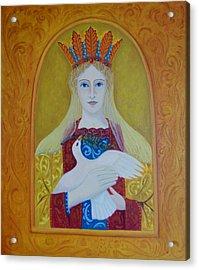 Acrylic Print featuring the painting Ste-marie-geest by Tone Aanderaa