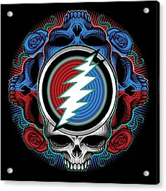 Steal Your Face - Ilustration Acrylic Print