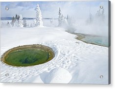Acrylic Print featuring the photograph Steam And Snow by Gary Lengyel