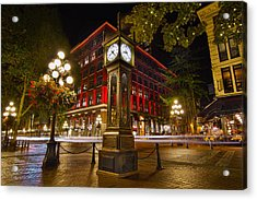 Steam Clock In Historic Gastown Vancouver Bc Acrylic Print