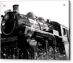 Steam Engine 3716 Monochrome Acrylic Print by Will Borden
