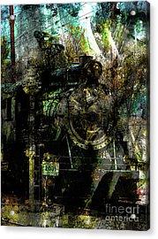 Steam Engine At Bay Acrylic Print by Robert Ball