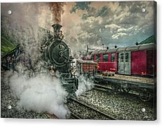 Acrylic Print featuring the photograph Steam Engine by Hanny Heim
