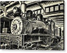 Steam Engine Train 1925 Lima Locomotive Bw Acrylic Print by Dan Carmichael