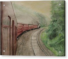 Steam Excursion Acrylic Print by Diana Prout