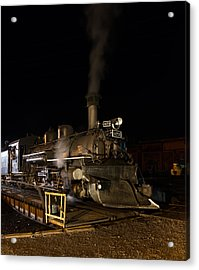 Acrylic Print featuring the photograph Locomotive And Coal Tender On A Turntable Of The Durango And Silverton Narrow Gauge Railroad by Carol M Highsmith