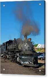 Steam Locomotive - Chama - New Mexico Acrylic Print by Steven Ralser