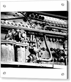 Steam Locomotive Detail Acrylic Print