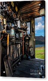 Steam Locomotive Footplate Acrylic Print