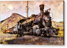 Acrylic Print featuring the digital art Steam Locomotive by Ian Mitchell