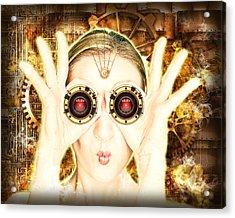 Steam Punk Lady With Bins Acrylic Print