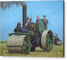 Steam Roller Traction Engine Acrylic Print