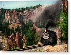 Acrylic Print featuring the photograph Steam Through The Rock Formations by Ken Smith