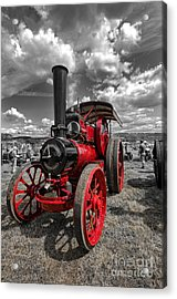 Steam Traction Engine Acrylic Print