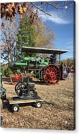 Steam Tractor Acrylic Print by Kevin  Sherf