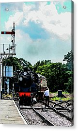 Steam Train Approaching Acrylic Print