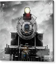 Acrylic Print featuring the photograph Steam Train Dream Square by Edward Fielding