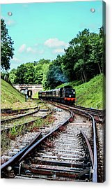 Steam Train Nr The Bridge Acrylic Print