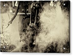 Acrylic Print featuring the photograph Steam Train Series No 4 by Clare Bambers