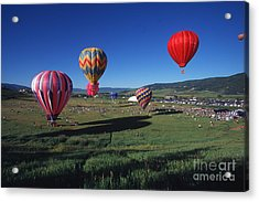 Steamboat Springs Balloon Festival Acrylic Print by Stan and Anne Foster